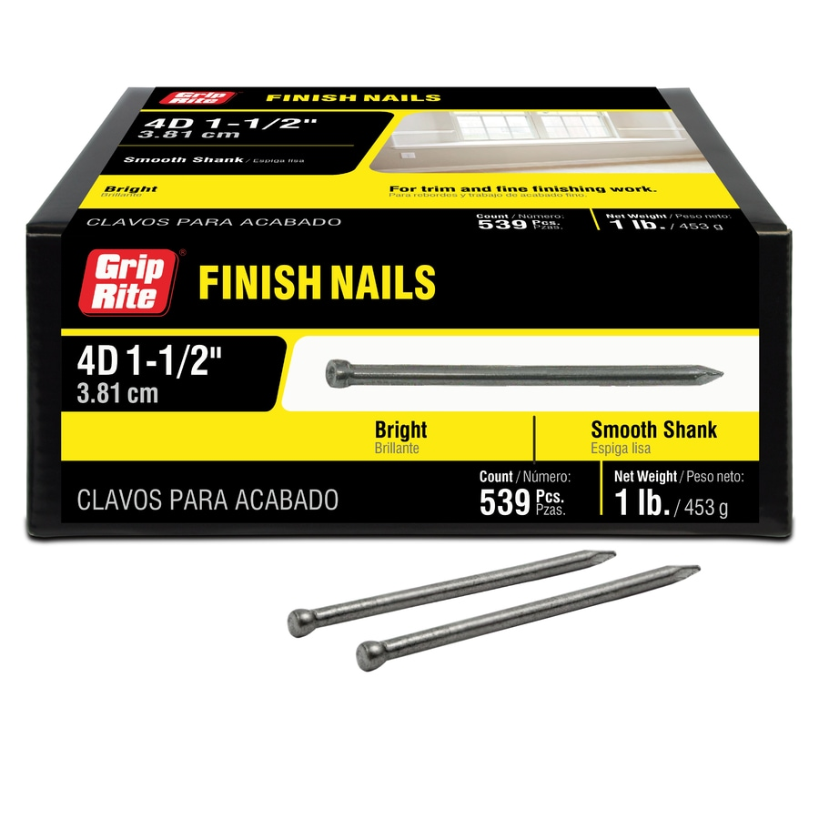 Grip-Rite 1-lb 15-Gauge 1.5-in Bright Steel Finish Nail
