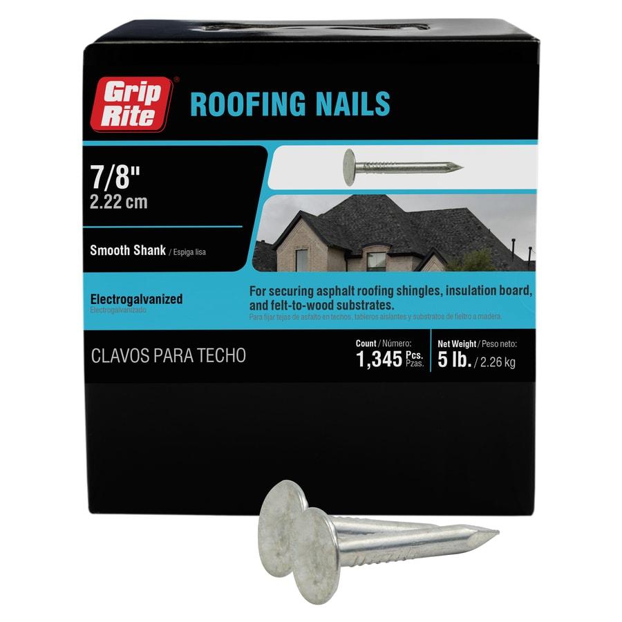 Grip-Rite 5-lb 11-Gauge 0.875-in Steel Roofing Nails