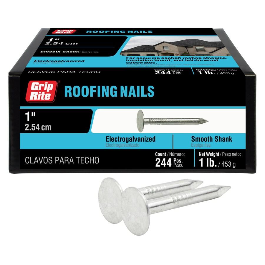 Grip-Rite 1-lb 11-Gauge 1-in Steel Roofing Nails