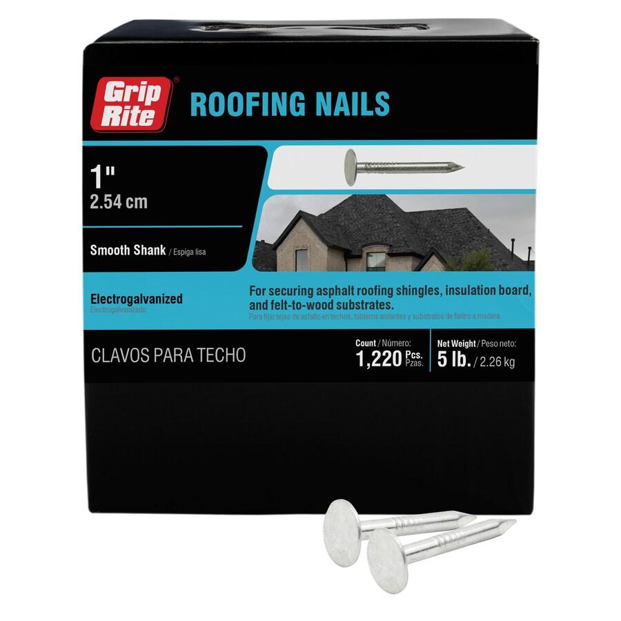 Grip-Rite 5-lb 11-Gauge 1-in Steel Roofing Nails