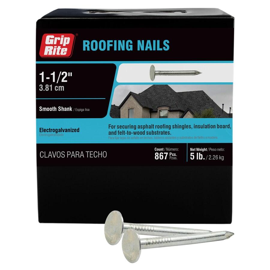 Grip-Rite 5-lb 11-Gauge 1.5-in Steel Roofing Nails