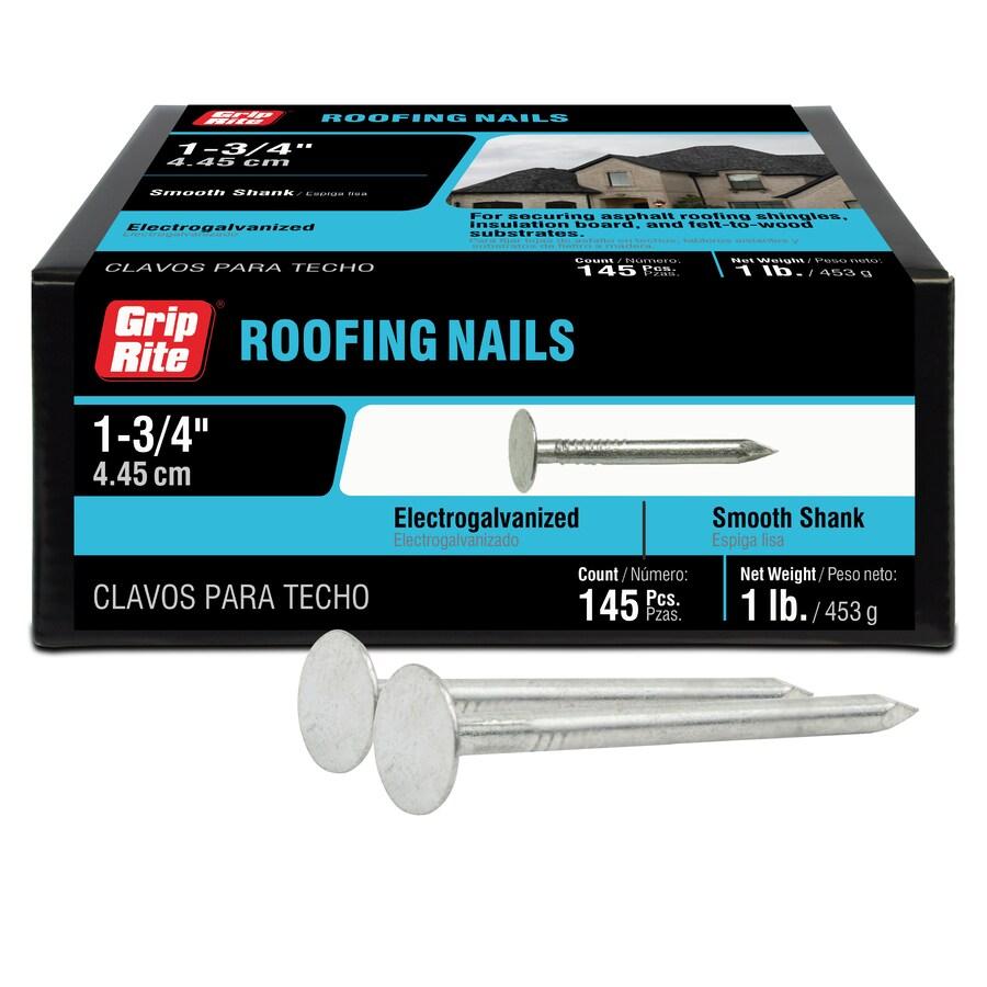 Grip-Rite 1-lb 11-Gauge 1.75-in Steel Roofing Nails