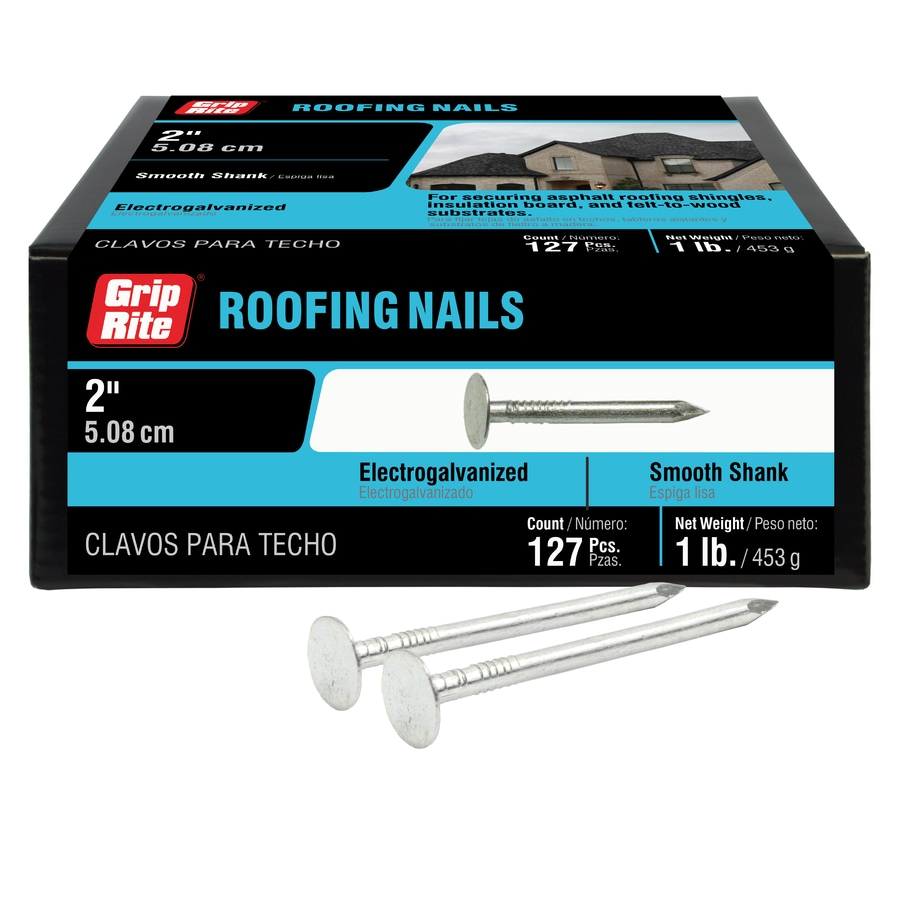 Grip-Rite 1-lb 11-Gauge 2-in Steel Roofing Nails
