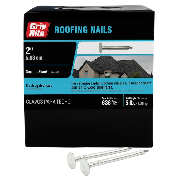 Grip Rite 2 In 11 Gauge Electro Galvanized Steel Roofing Nails 5 Lbs In The Roofing Nails Department At Lowes Com