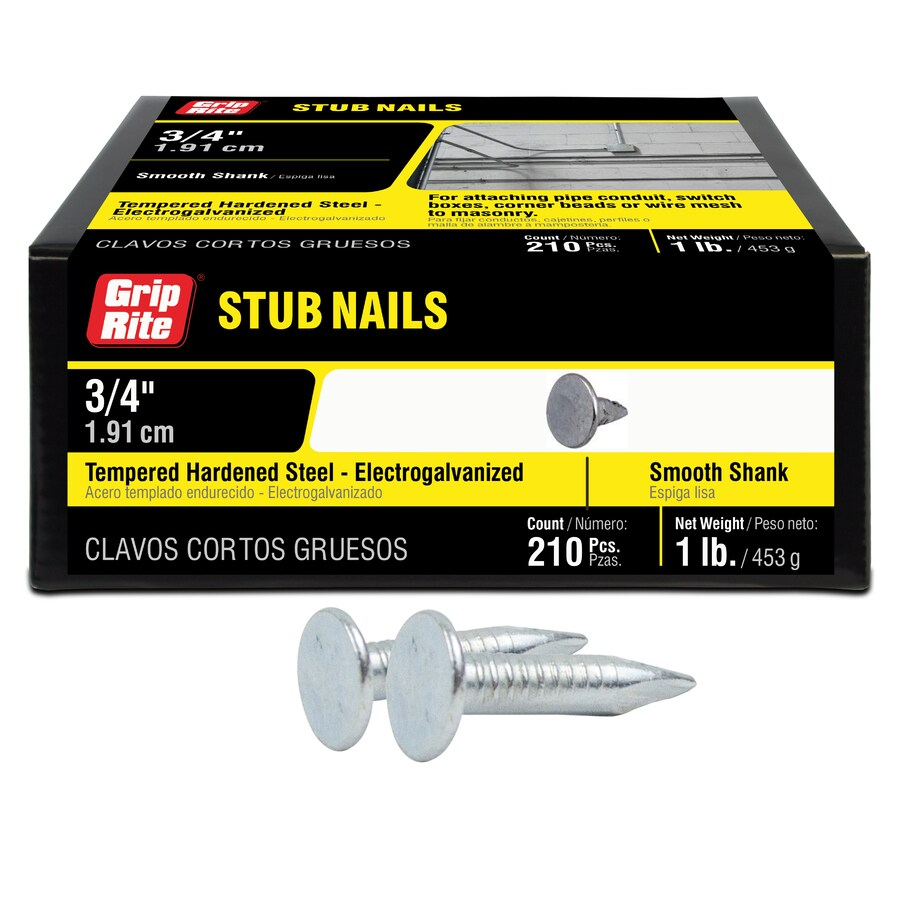 Grip-Rite 1-lb 9-Gauge 0.75-in Electro-Galvanized Stub Masonry Nails
