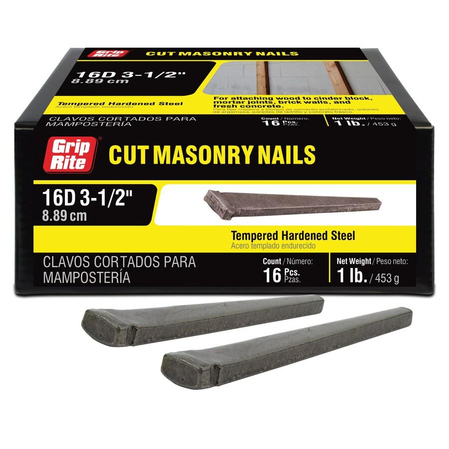 Grip-Rite 1-lb 9-Gauge 3.5-in Bright Steel Cut Masonry Nails