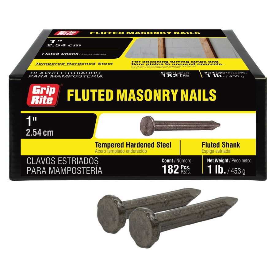 Grip-Rite 1-lbs 9-Gauge 1-in Bright Steel Masonry Nails