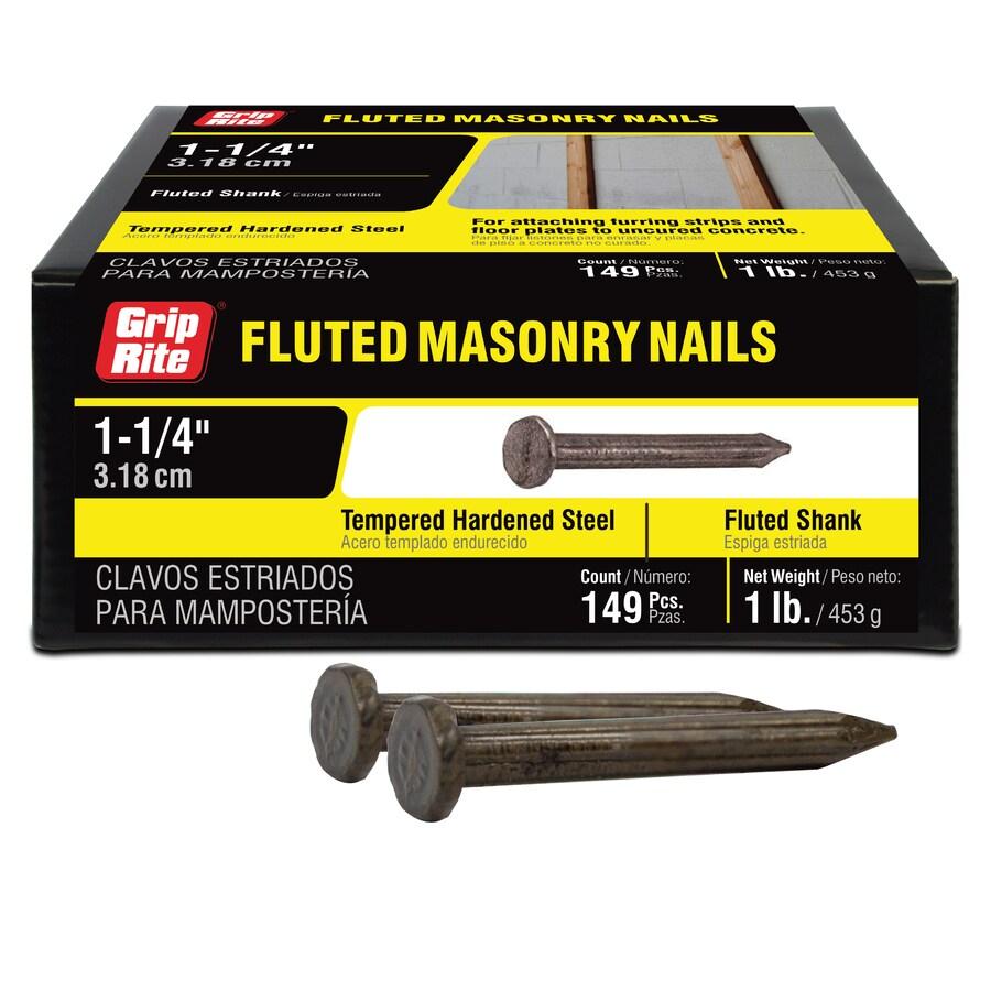 Grip-Rite 1-lb 9-Gauge 1.25-in Bright Steel Masonry Nails