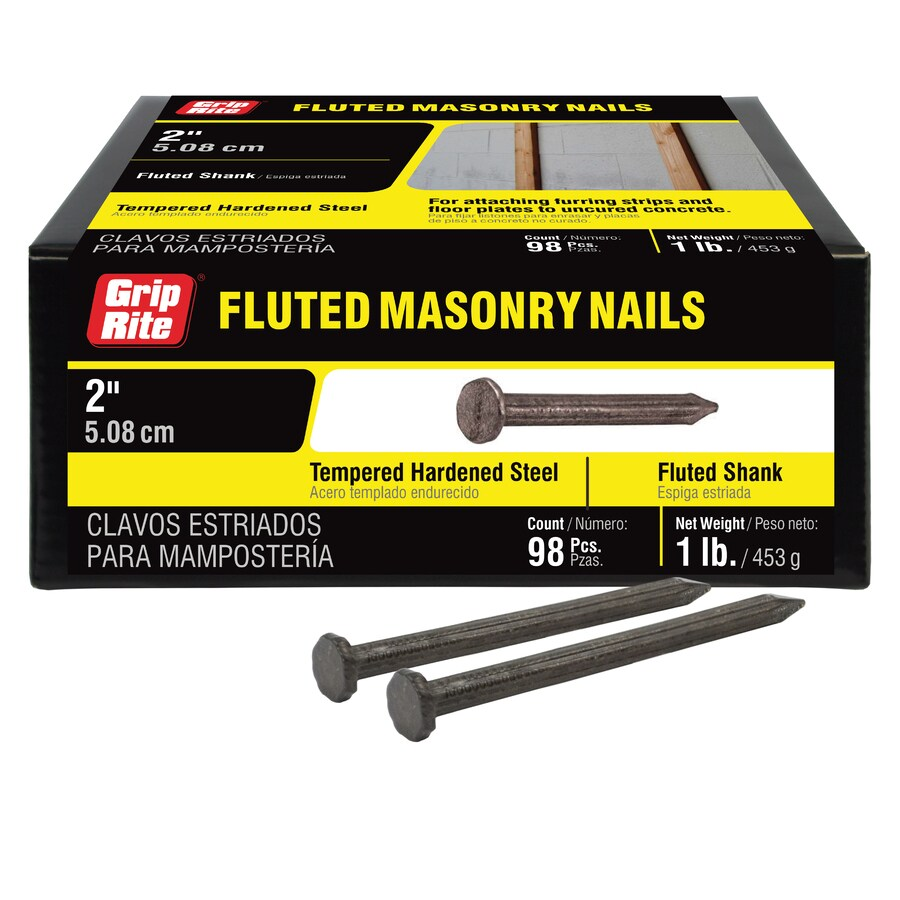 Grip-Rite 1-lb 9-Gauge 2-in Bright Steel Masonry Nails