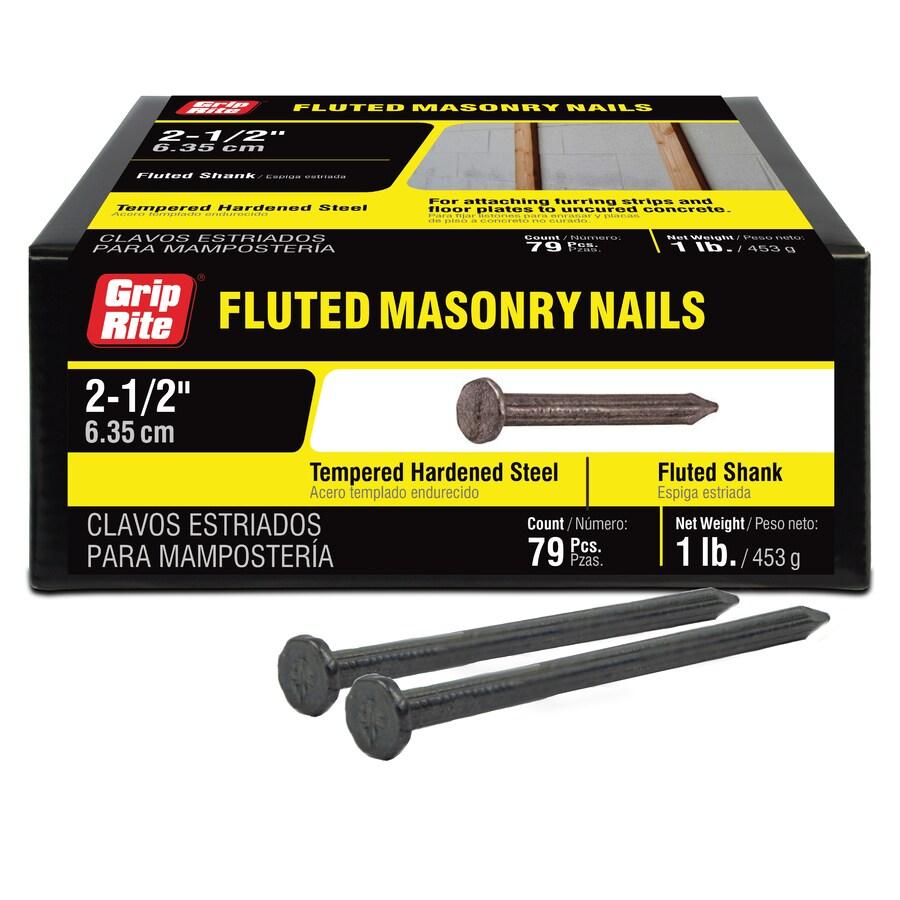 Grip-Rite 1-lbs 9-Gauge 2-1/2-in Bright Steel Masonry Nails