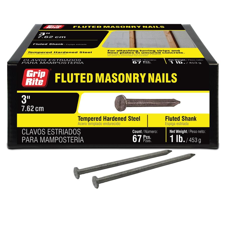 Grip-Rite 1-lb 9-Gauge 3-in Bright Steel Masonry Nails