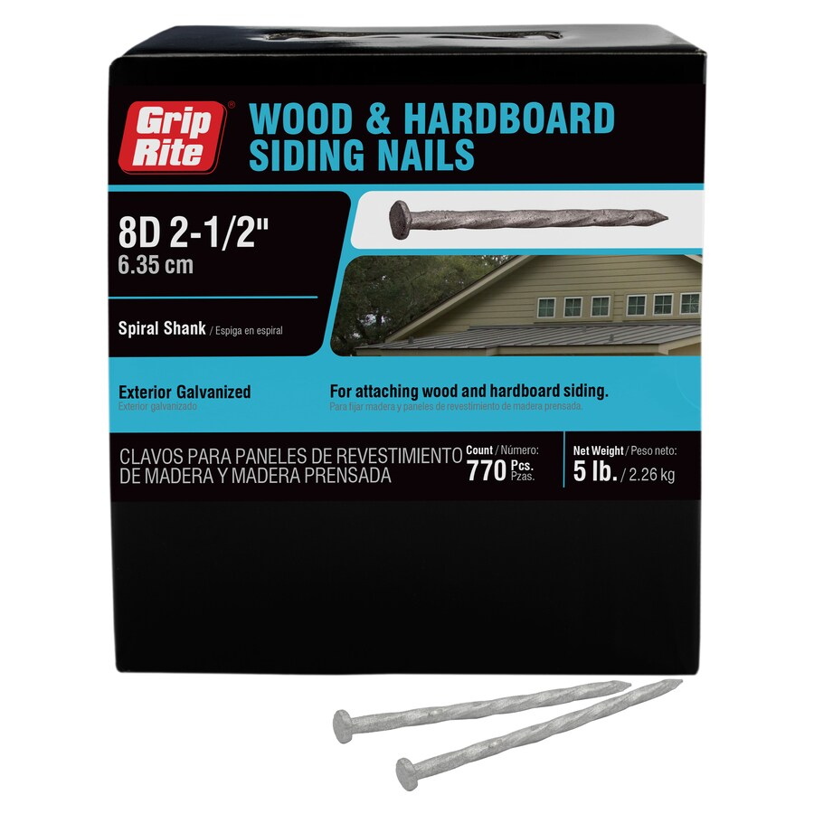 Grip-Rite 5-lbs 8-Gauge HG Spiral Hardboard Siding Nails