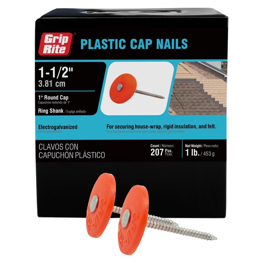Grip-Rite 1-lb 1.5-in Round Plastic Cap Nails