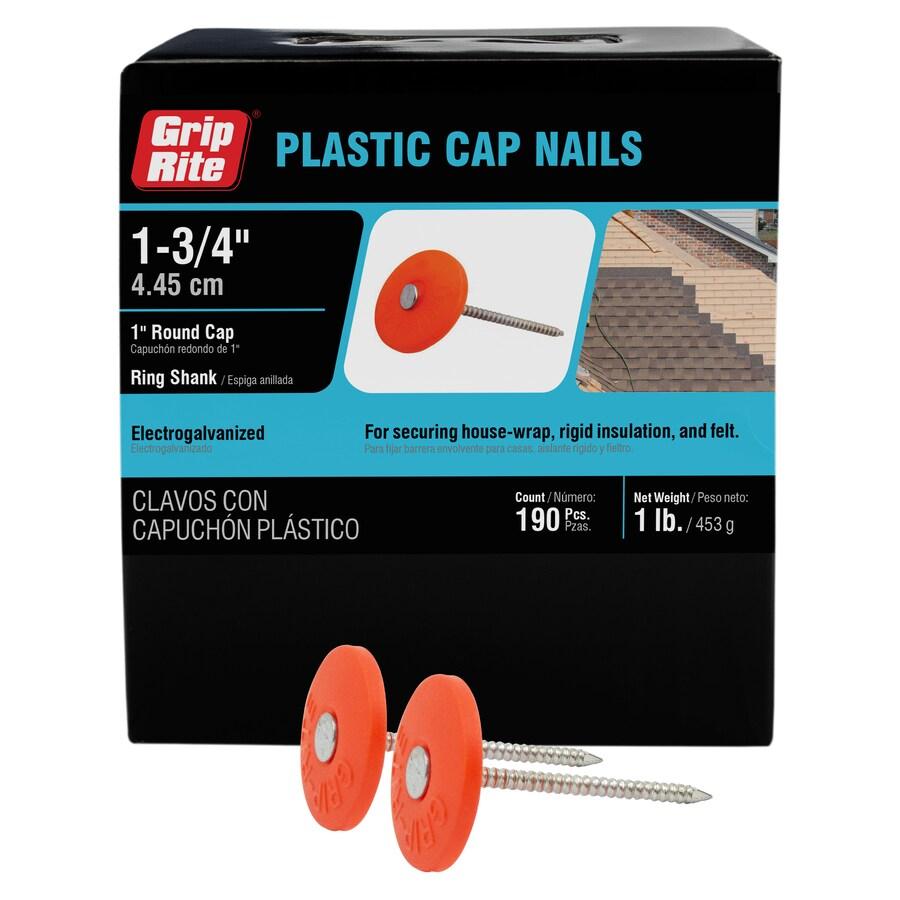 Grip-Rite 1-lb 1.75-in Round Plastic Cap Nails