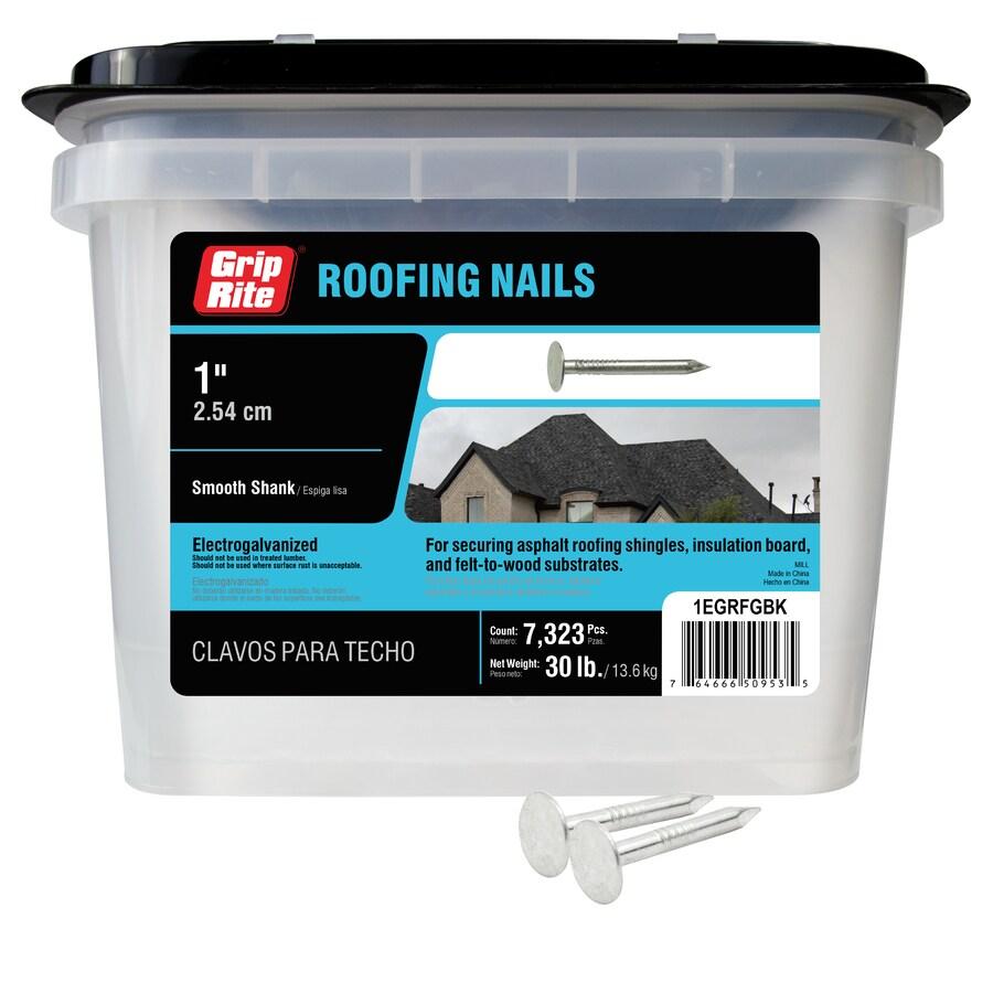 Grip-Rite 30-lb 11-Gauge 1-in Steel Roofing Nails