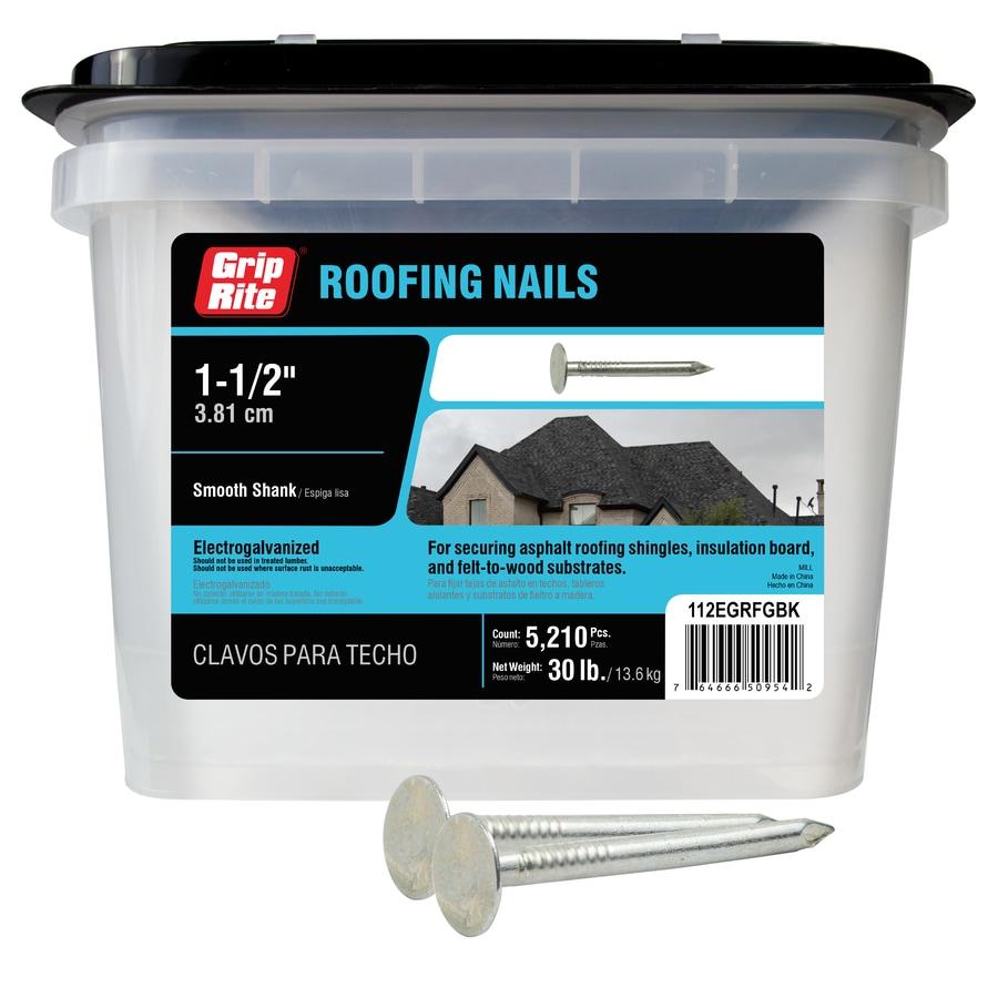 Grip-Rite 30-lb 11-Gauge 1.5-in Steel Roofing Nails
