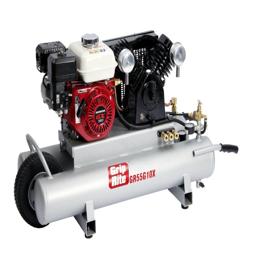 Grip-Rite 5.5-HP 10-Gallon 150-PSI Horizontal Portable Gas Air Compressor