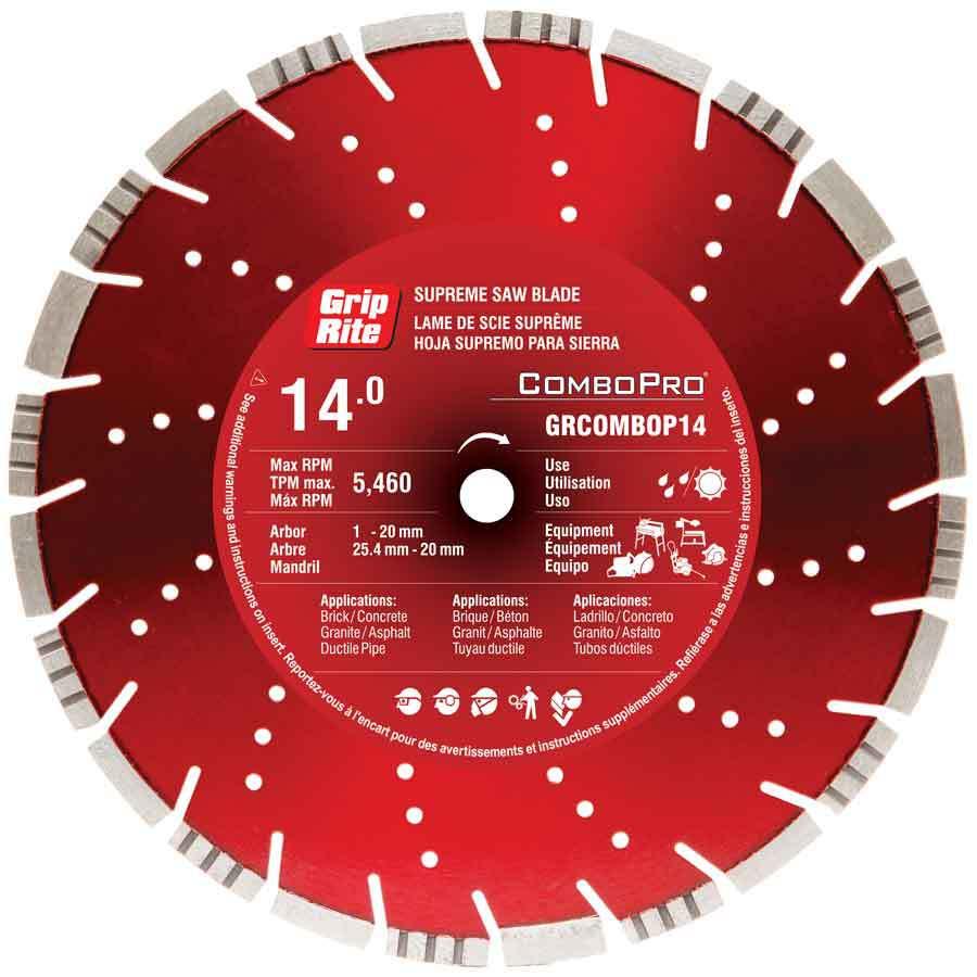 Grip-Rite 14-in Wet or Dry Segmented Diamond Circular Saw Blade