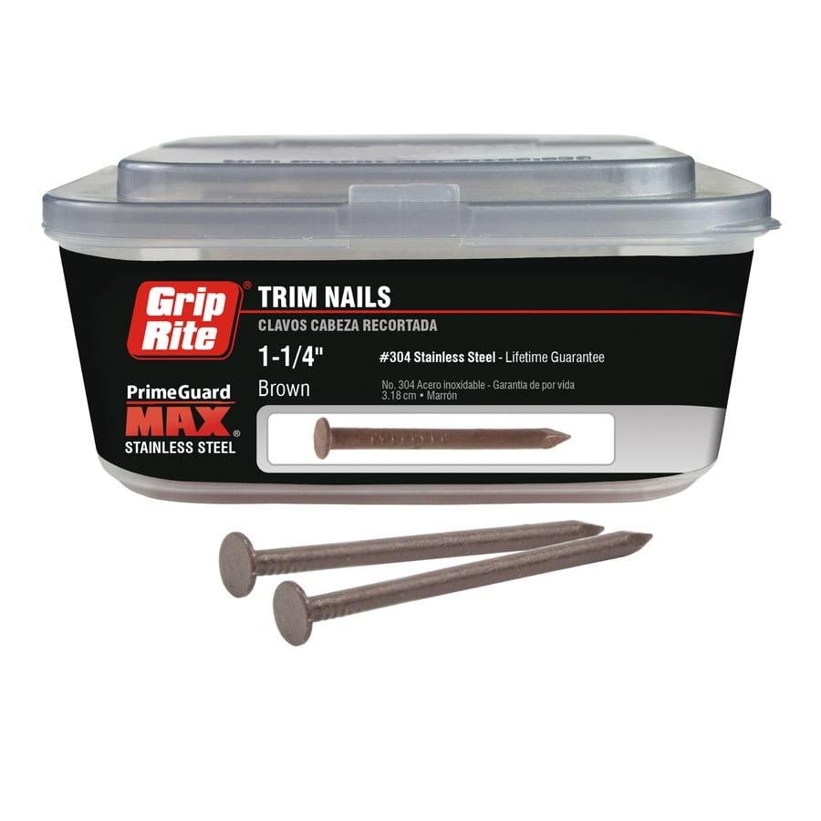 Grip Rite PrimeGuard Max 1-lb 15-Gauge 1-1/4-in Brown Trim Nails