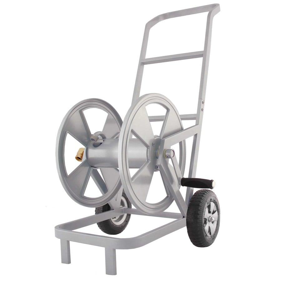 Shop Garden Treasures Steel 200 Ft Cart Hose Reel At Lowes Com