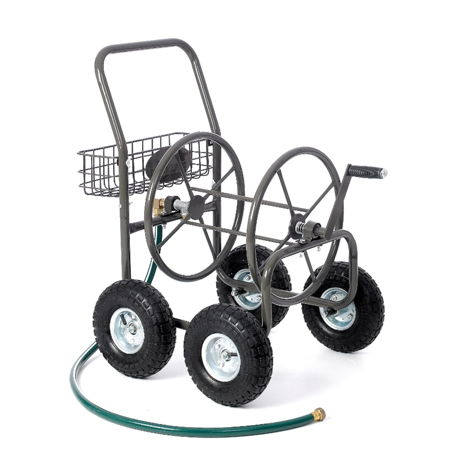 Liberty Garden Products Steel 250-ft Cart Hose Reel