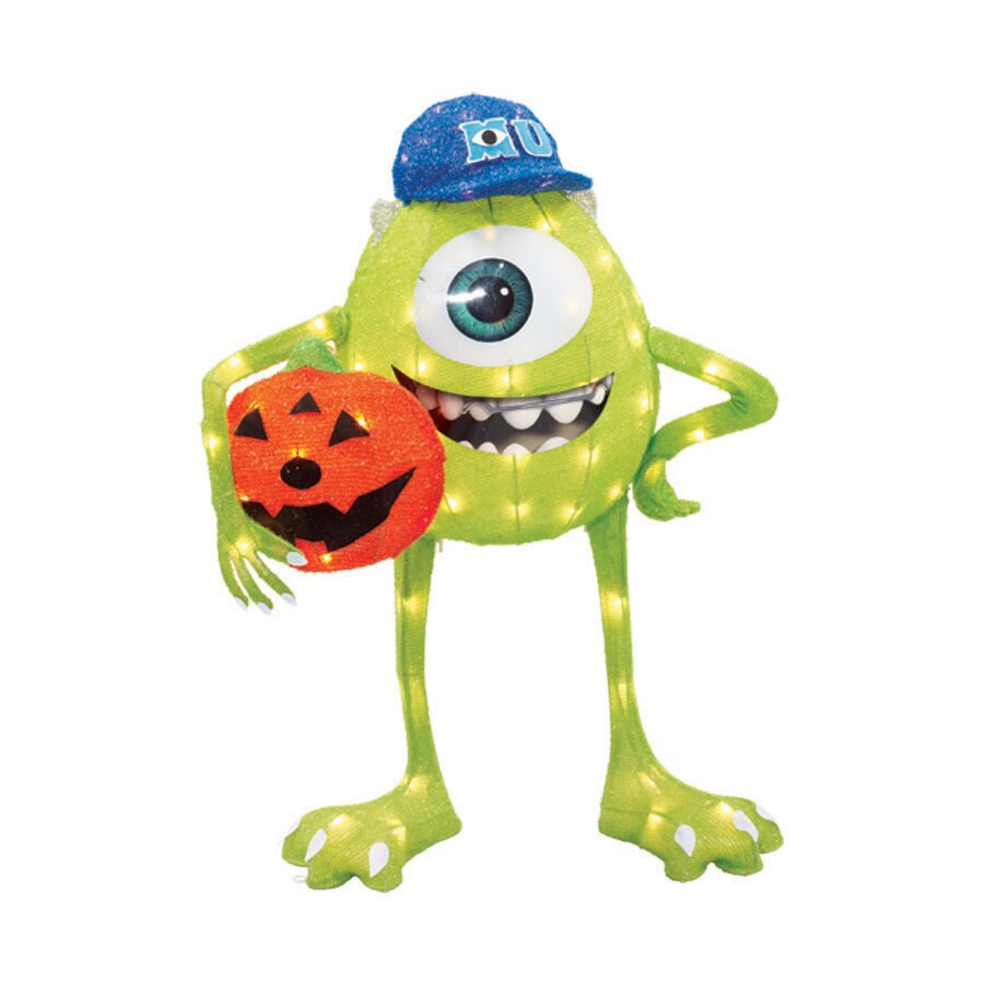 2.66-ft Monsters University Mike and Pumpkin with Clear Incandescent Lights