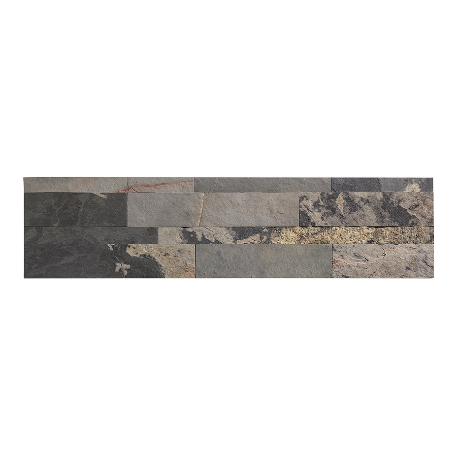Aspect Stone 6-in x 24-in Medley Slate Stone Backsplash