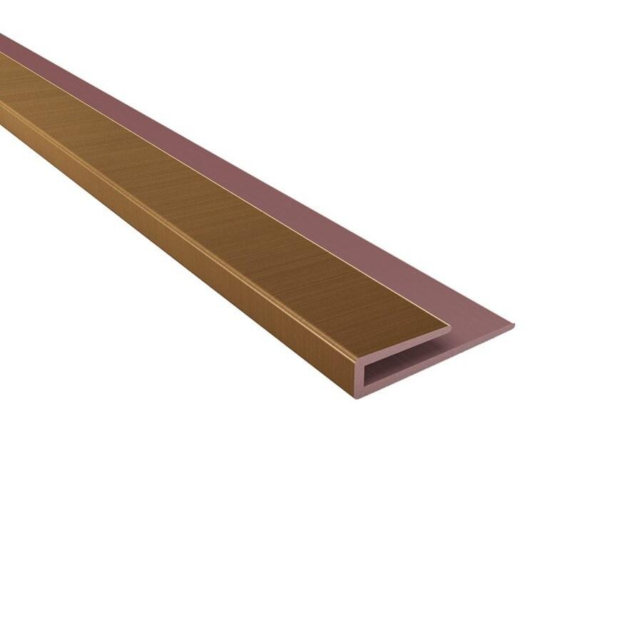 Ceiling Trim Lowes: Shop ACP Oil Rubbed Bronze PVC Smooth J-Channel Ceiling