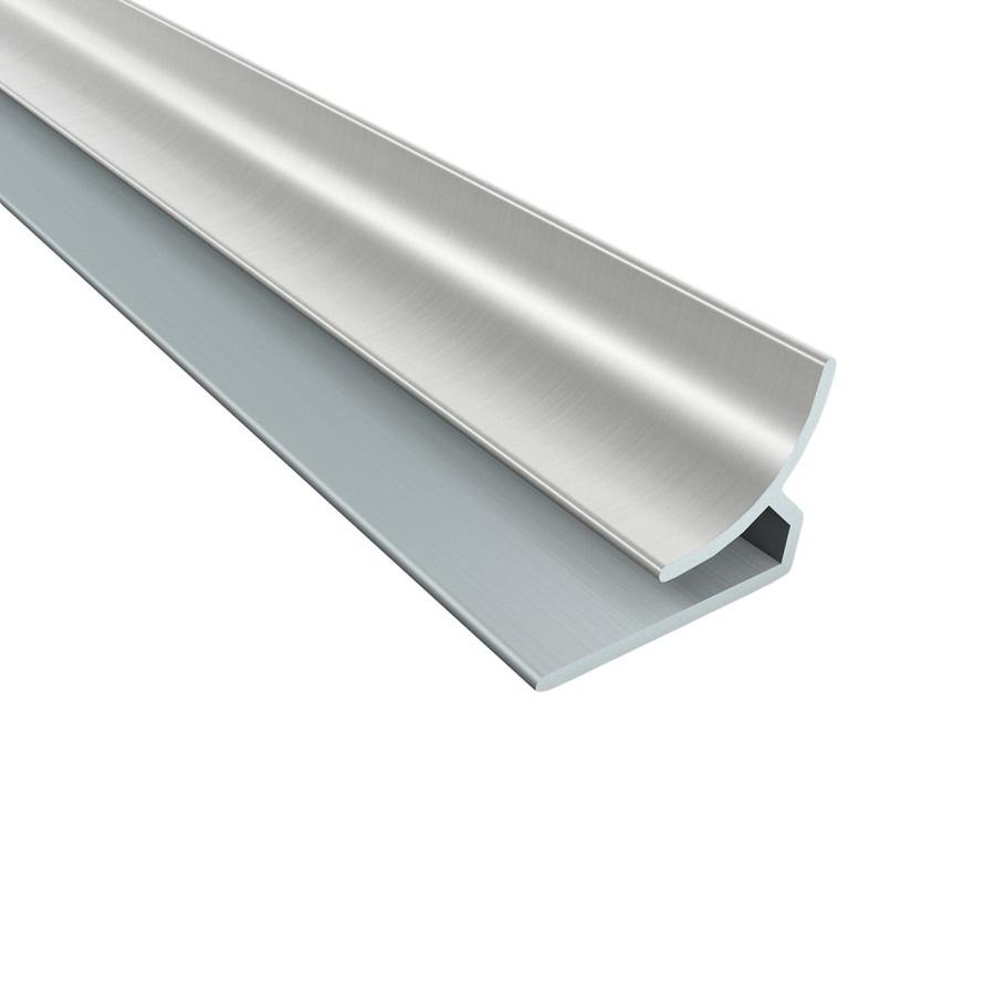 ACP Brushed Nickel PVC Smooth Inside Corner Ceiling Grid Trim