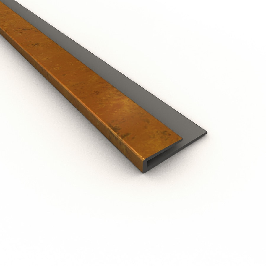 ACP Muted Gold PVC Smooth J-Channel Ceiling Grid Trim