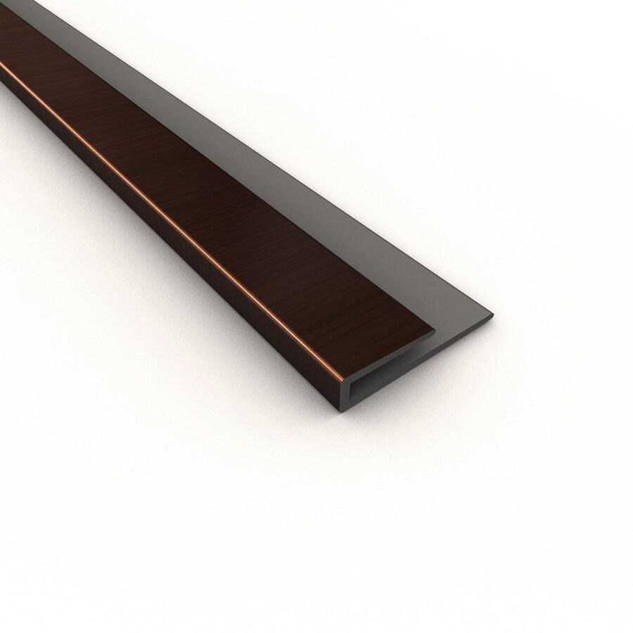ACP Polished Copper PVC Smooth J-Channel Ceiling Grid Trim