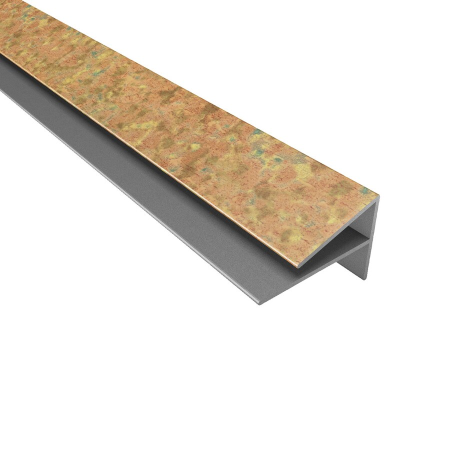 ACP Cracked Copper PVC Smooth Outside Corner Ceiling Grid Trim