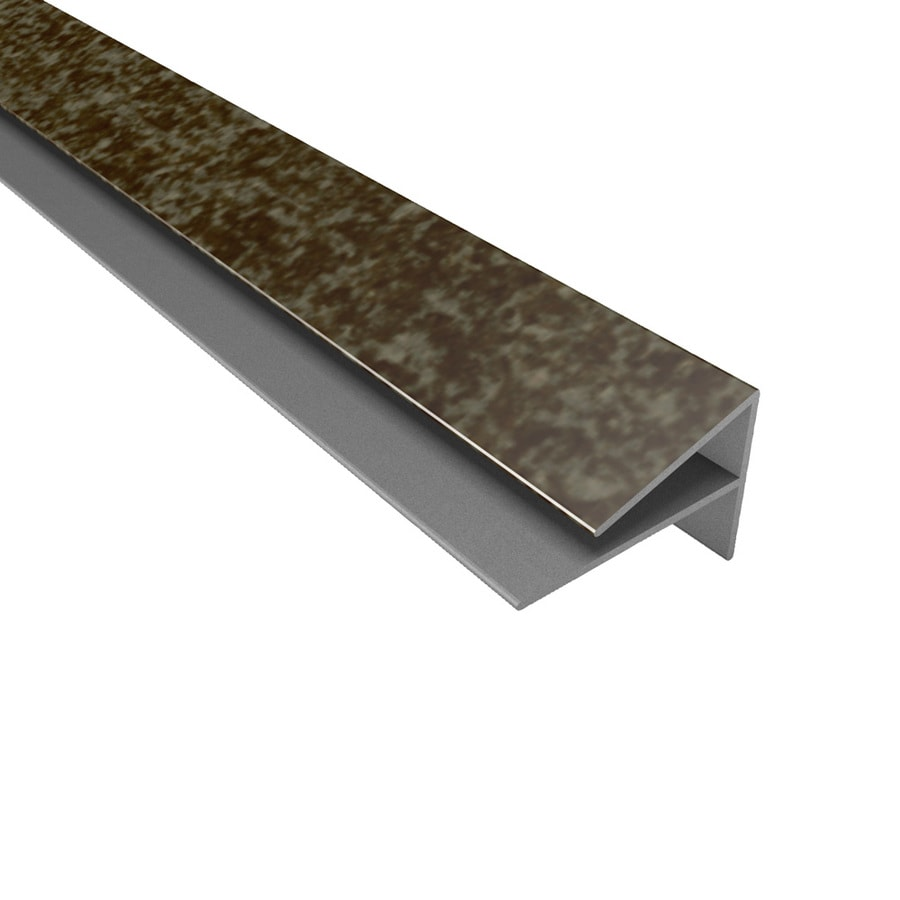 ACP Smoked Pewter PVC Smooth Outside Corner Ceiling Grid Trim