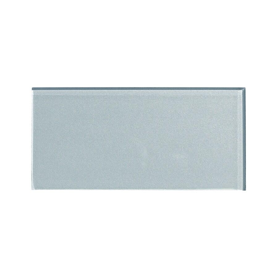 Aspect Glass 3-in x 6-in Glacier Backsplash