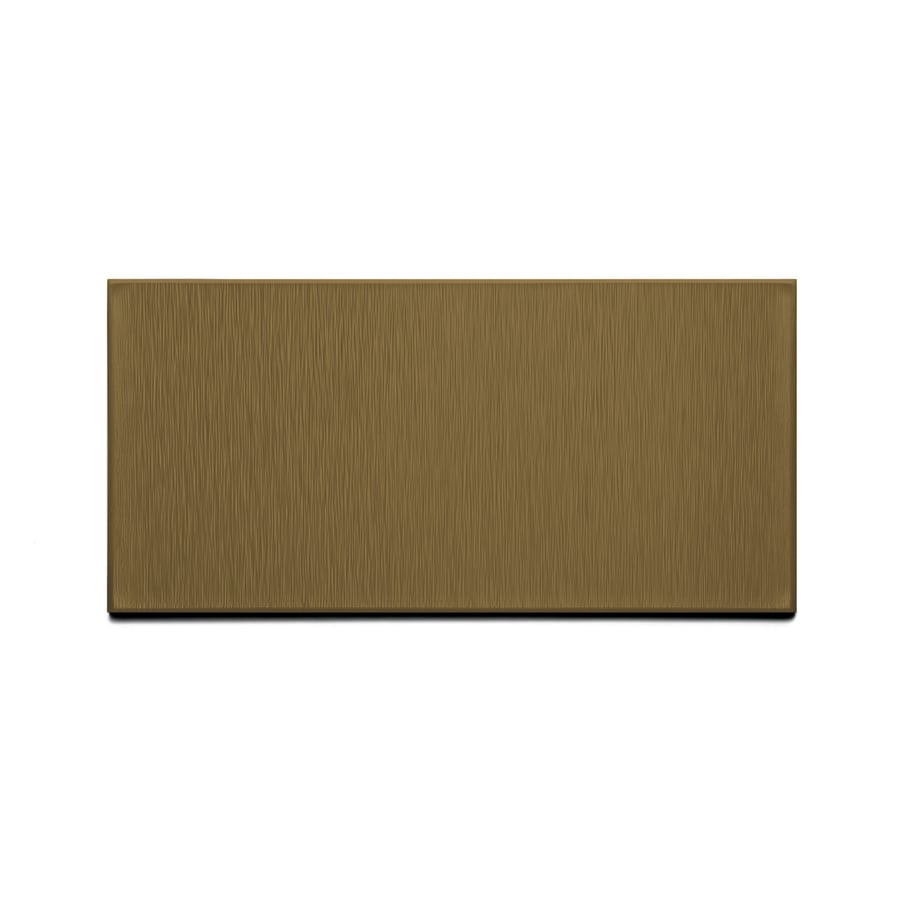 Aspect Metal 6-in Brushed Bronze Composite Multipurpose Backsplash