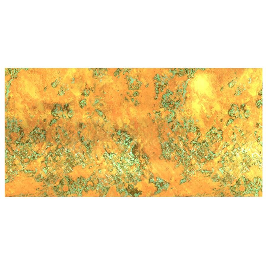 Fasade 6-in x 12-in Copper Fantasy Laminate Kitchen Backsplash