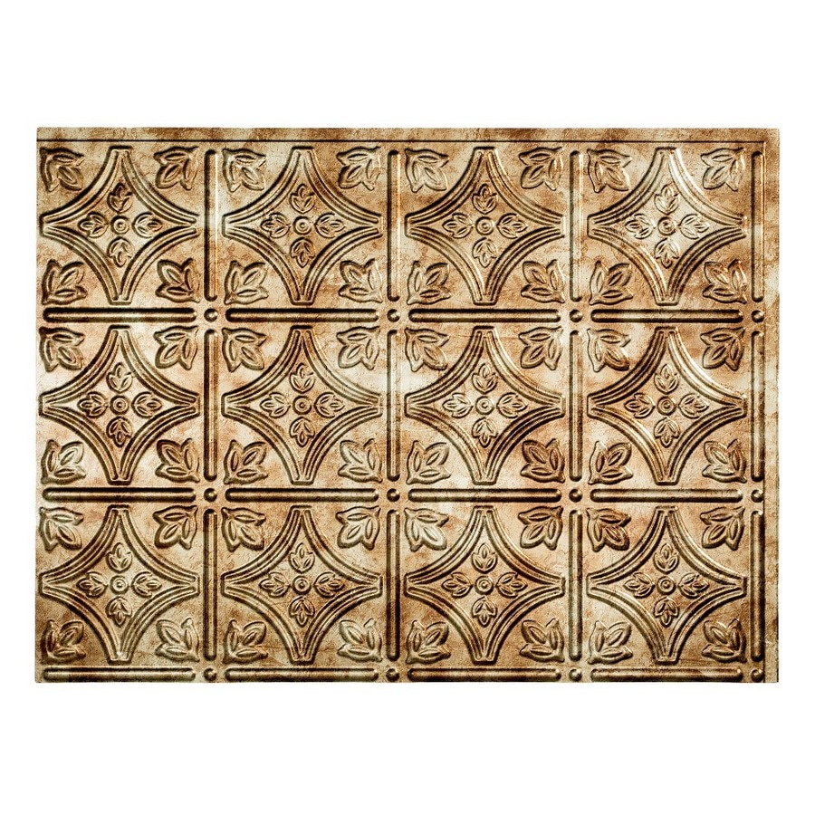 Fasade 18.5-in x 24.5-in Bronze Thermoplastic Backsplash