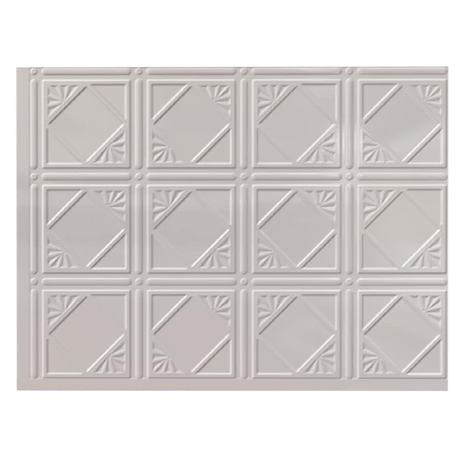 Fasade 18.5-in x 24.5-in White Thermoplastic Multipurpose Backsplash