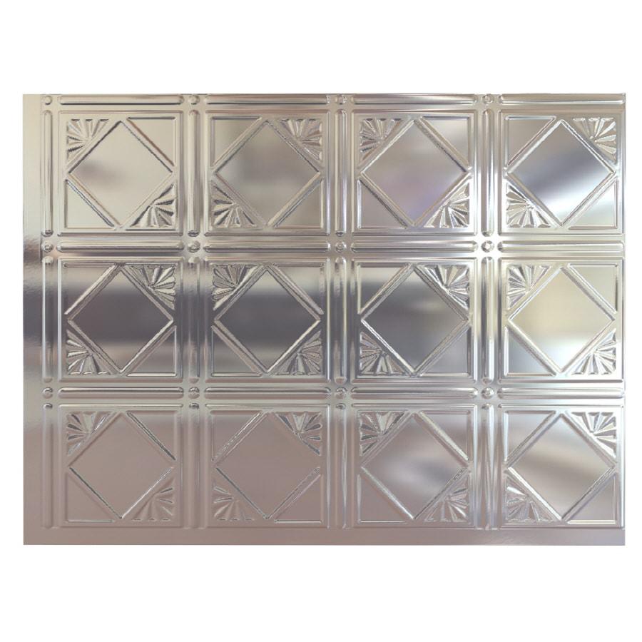 Fasade 24-1/2-in Chrome Thermoplastic Multipurpose Backsplash