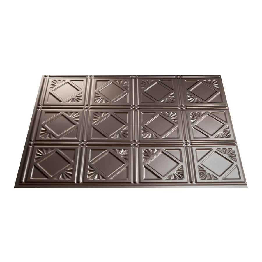 18 5 in x 24 5 in brushed nickel thermoplastic multipurpose backsplash