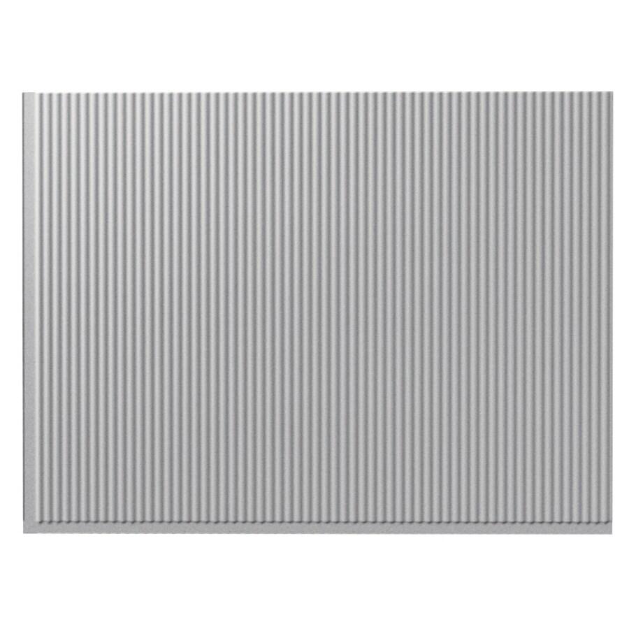 Fasade 18.5-in x 24.5-in Silver Thermoplastic Multipurpose Backsplash