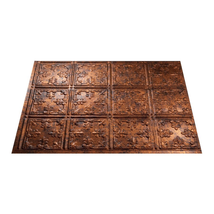 Fasade 18.5-in x 24.5-in Moonstone Copper Thermoplastic Multipurpose Backsplash