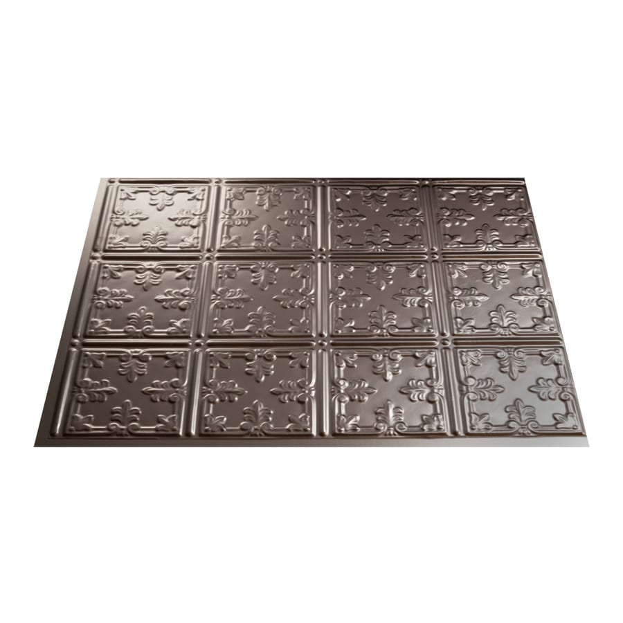 Kitchen Backsplash Tile At Lowes: Shop Fasade 18.5-in X 24.5-in Brushed Nickel Thermoplastic