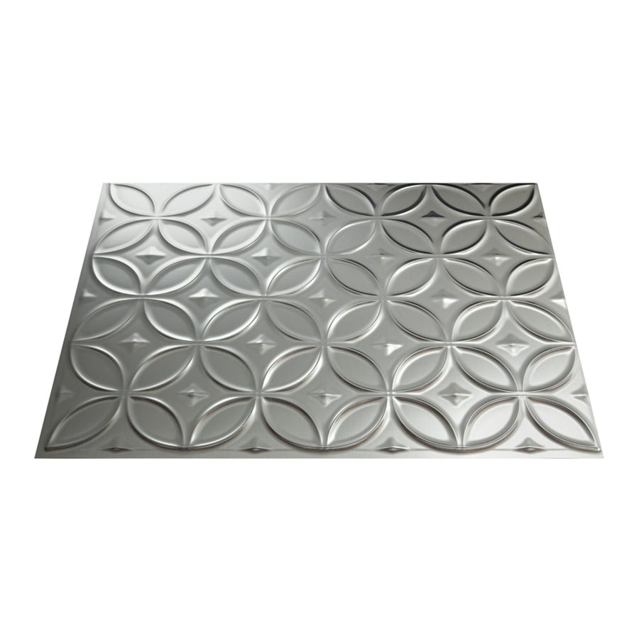 Fasade 18.5-in x 24.5-in Brushed Aluminum Thermoplastic Multipurpose Backsplash