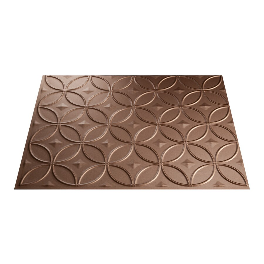 Fasade 18.5-in x 24.5-in Argent Copper Thermoplastic Multipurpose Backsplash