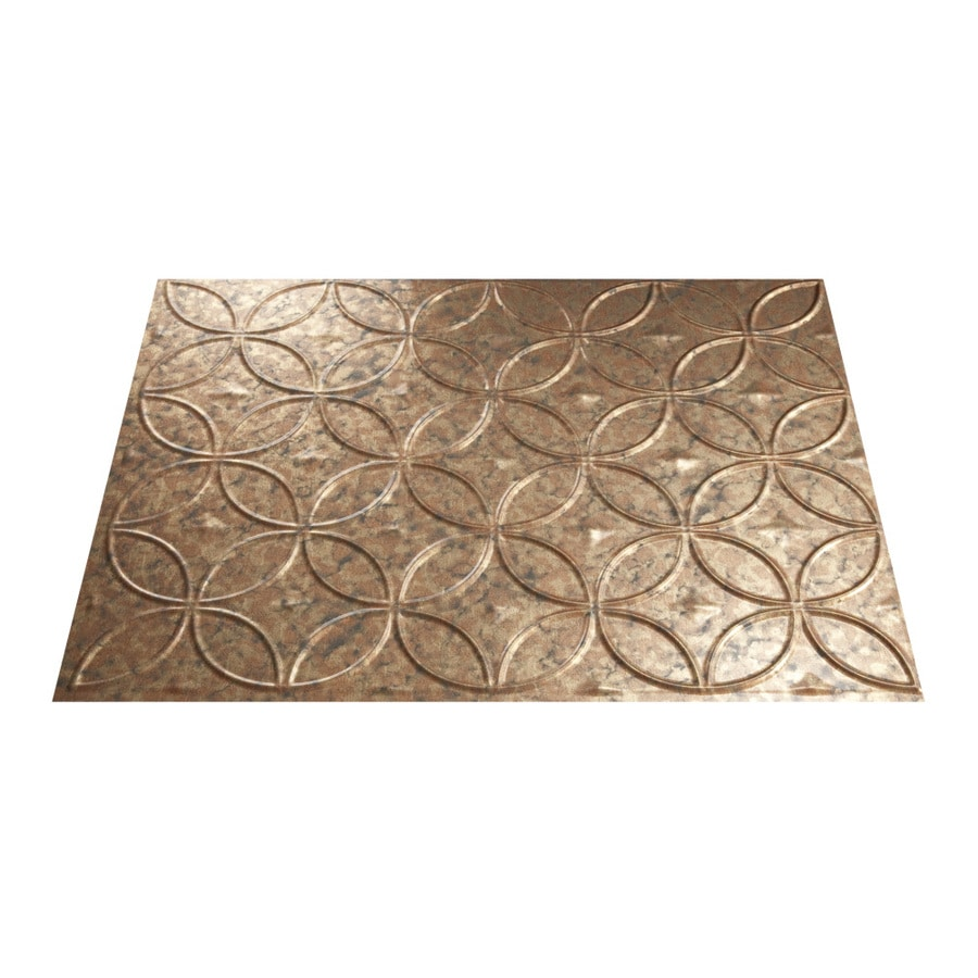 18 5 in x 24 5 in cracked copper thermoplastic multipurpose backsplash