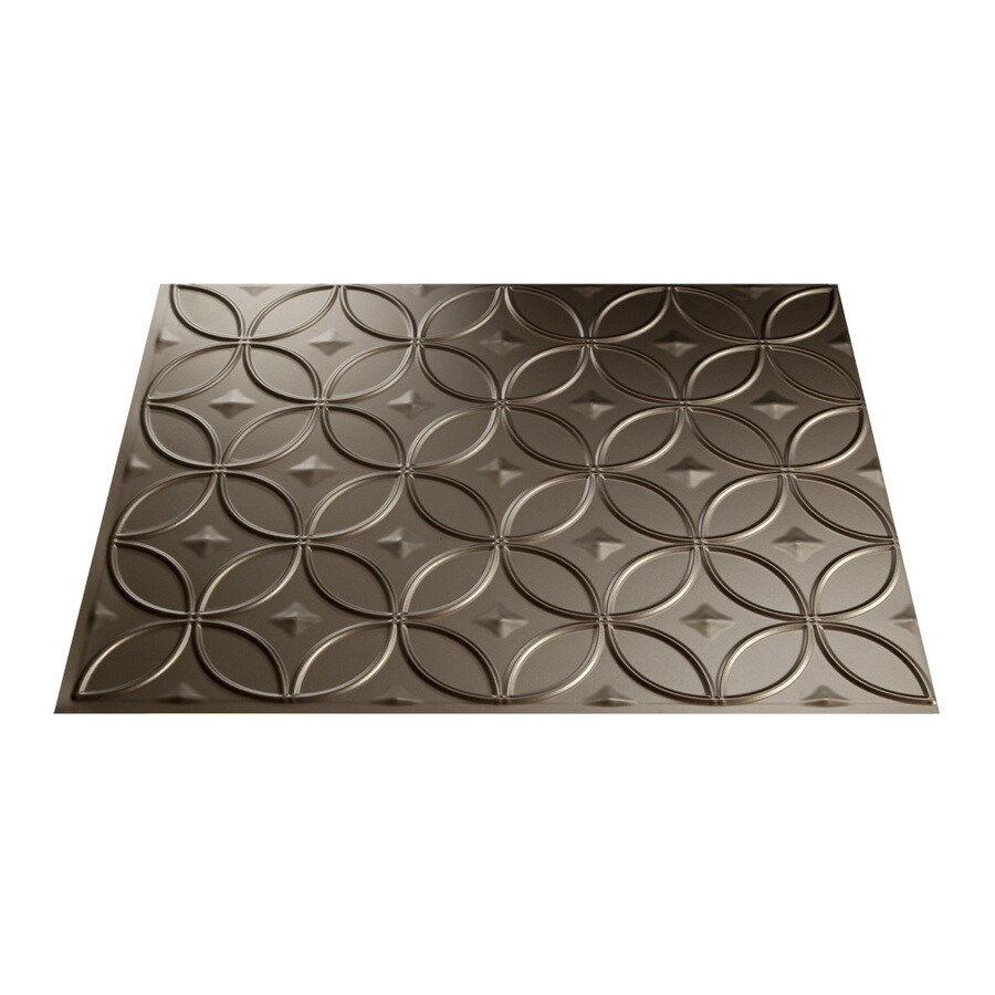 Fasade 18.5-in x 24.5-in Argent Bronze Thermoplastic Multipurpose Backsplash