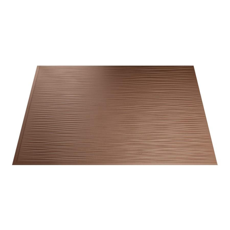 Fasade 18.5-in x 24.5-in Argent Copper Thermoplastic Multipurpose Backsplash