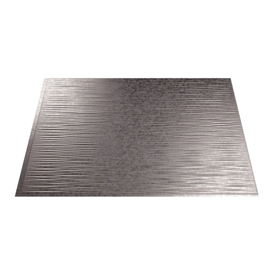Fasade 18.5-in x 24.5-in Galvanized Steel Thermoplastic Multipurpose Backsplash