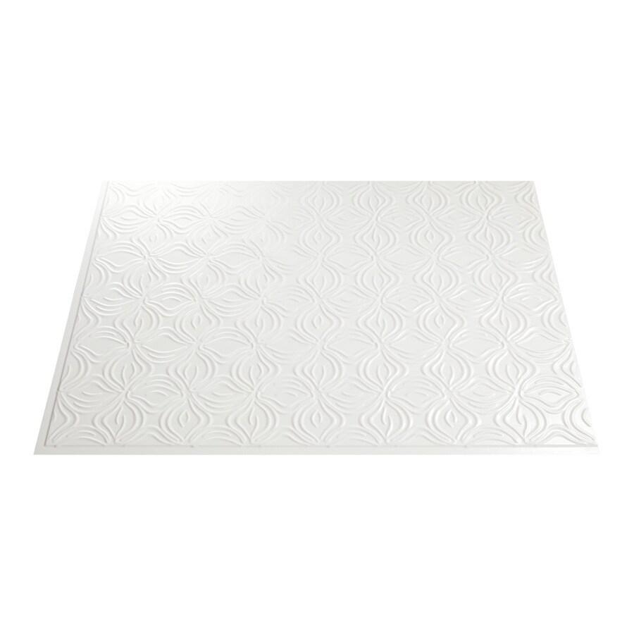 Fasade 18.5-in x 24.5-in Paintable White Thermoplastic Multipurpose Backsplash